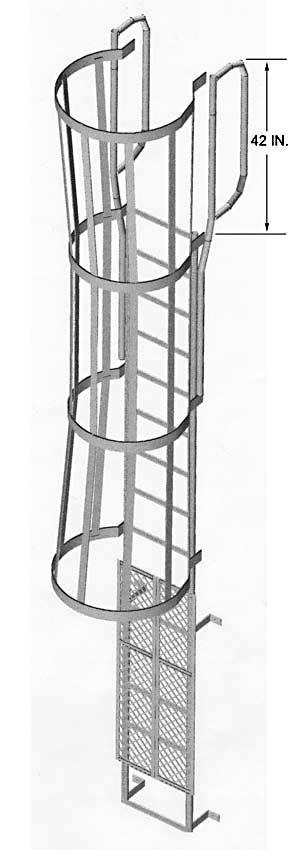 Ladder Security Door Amp Ladders Safety Post Boarding Rail